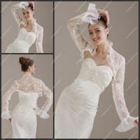 Wholesale Organza Jackets Long Sleeve Special Design Appliqued Jackets Bridal Jackets