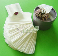 al por mayor comida para-Venta al por mayor 100pcs / lot de sellado de calor de té Filtros de 60 X 80 mm bolsas de té vacías, papel de filtro de calidad alimentaria, bolsa de filtro desechable, bio-degradado bolsa