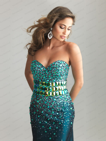 Teal Mermaid Prom Dress Teal Mermaid Prom Dress