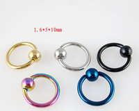 Wholesale stainless steel round color Labret Lip Piercing Jewelry Color random MX2151