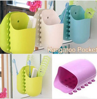 Wholesale Wall Kangaroo Toothbrush Holder Rack Bathroom Spinbrush Organizer Kitchen Tool