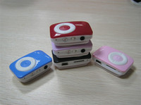 Wholesale 10pcs MINI Clip Mp3 music player with card slot support TF card Clip Mp3 player earphone cable