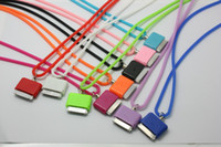 Wholesale Silicone Material Dock Connected Neck Strap for iPhone iphone4 iPod free ship dhl up