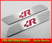 Wholesale 2PCS SET RACING RED Aluminium Seat Adjustable Sticker Left amp Right GOLF OCTAVIA