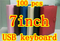 Wholesale 100pcs HOT Inch USB keyboard leather case VIA A10 A13 Q88 N77 VC882 epad tablet pc MID