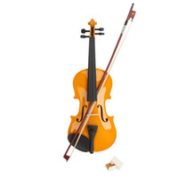 Wholesale 4 Acoustic Violin Case Bow Rosin Yellow New Ship From USA