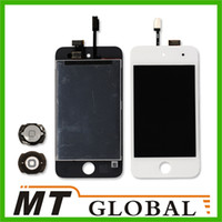 Wholesale For iPod Touch LCD Display amp Touch Screen Digitizer amp Home Menu Button White Color High Quality
