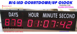 Wholesale Big size days hours minutes and seconds countdown up clock LED timer activities research and development production target c