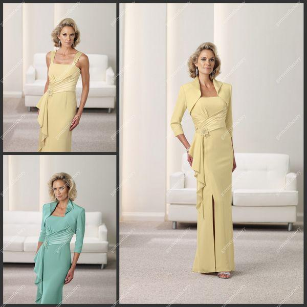 Pastel Yellow Mother Of The Bride Dresses 24