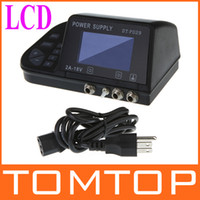Wholesale AC V V LCD Display Digital Dual Tattoo Power Supply for Machine Gun Kit pin US plug H9111