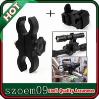 Wholesale New Bike Torch Barrel Clamp Flashlight Multi functional Scope Mount V2 Cross Bicycle Mount