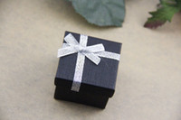 Wholesale 120pcs black jewelry ring box gift box display box cm