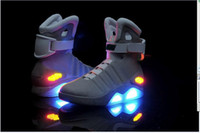 Wholesale Mag Glow In The Dark Men s Basketball Sport Footwear Sneaker Shoes Gray White