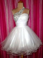 Wholesale 2013 WHITE PROM HOMECOMING EVENING PAGEANT SHORT WEDDING PARTY GOWN DRESS Custom Made