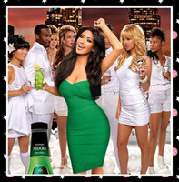 Sheath/Column Sexy Ruffle On Sale Sexy Kim Kardashian Celebrity Dresses Sheath Sweetheart Neckline Mini Green Prom Cocktail Dress