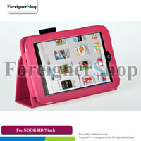 Folding Folio Case BARNE & Noble NOOK HD 300 PCS For Barnes & Noble NOOK HD 7 inch Tablet PU Folding Folio Stand Leather Case Cover Holder
