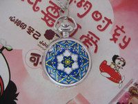 Quartz beautiful pocket watch - Beautiful delicate flower enamel pocket watch pocket watch necklace RAHB289