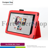 Folding Folio Case BARNE & Noble NOOK HD+ 100 PCS For Barnes & Noble NOOK HD+ 9 inch Tablet PU Folding Folio Stand Leather Case Cover Holder