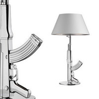 Wholesale Modern FLOS AK47 Silver Gun Table Lamp Desk Light Lighting Beside Lamp EMS SHIP