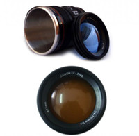Wholesale Lens6 generation Steel office mugs lens coffee mugs auto mugs travel mugs lens cup with lid clone