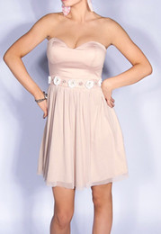 Wholesale New Arriva Strapless A line Chiffon Sweetheart Neckline Maid Of Honor Bridesmaid Dress