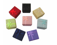 Wholesale Jewelry boxes cheap jewellery pretty gift boxes for rings jewelry box colors mixed CM