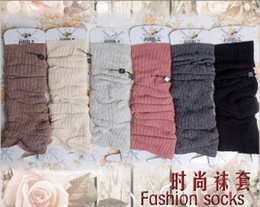 Wholesale Korean Fashion Soft Cashmere feeling leg warmers LEG Boot CORVER Sexy Socks pairs FREE SH