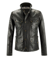 Wholesale Casual leather jackets Professional veteran technology absolutly genuine cow leather multi zipper designment cycling jackedts