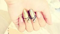 venta al por mayor retro-punk de la personalidad del metal del clavo de la joyería del anillo de plata de bronce de oro 30pcs / l ENVÍO GRATIS