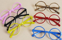 Wholesale Children glasses Round spectacles frame Baby no lens eyeglass frame Harry Potter round Pure Color frame