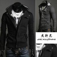 Wholesale 2012 Men Casual Fashion Hoodie Sweatshirt Jacket Hoodie Cardigan Coat With Zip Hat Outerwear size