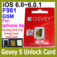 Wholesale F981 Chip GEVEY ULTRA S Unlock sim for iphone s ios BB3 GSM WCDMA CDMA reset sim