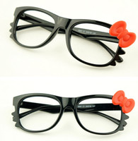 Wholesale Fashion Bowknot Glasses Frame With Bow Women Accessories Eyeglasses Eye Frame No Lens