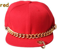 Wholesale Chain flat brimmed hat Fashion personality hip hop cap Baseball hats Snapback caps