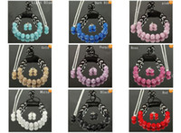 Wholesale Mix colors mm crystal clay disco ball shamballa necklace bracelet earring set cheap gift