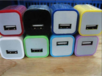 Wholesale US Colorful USB Wall Travel Charger Adapter for iphone G GS iphone S ipod Nano