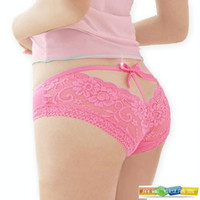Wholesale 20pcs Ms Underwear Sexy Shorts Lady Bow Briefs Underpants Lace Panties Women s Knickers V buns