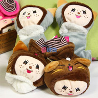 Wholesale EMS hot sales A raccoon Mengqi Design warm gloves cartoon gloves Girls knitted gloves
