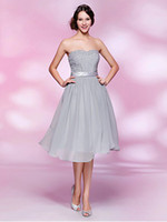 Wholesale 2013 New sexy evening dress sleeveless strapless grey tea length cocktail dresses C031