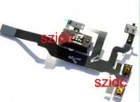 For Apple iPhone audio number - For iPhone S Audio Headphone Jack Volume Power Flex Cable Black With Tracking Number