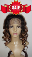 Wholesale Eton Two Toned B inch Body Wave Indian Remy Glueless Lace Front Wigs Density OEM