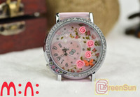 Wholesale MINI Korea Japan Polymer Clay Handmade Miniature Girl Children Fashion pink rose D Watch