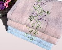 Wholesale Embroidery Tree Large Cotton FAMILY LABEL Bath Towels Washcloth X140cm mix