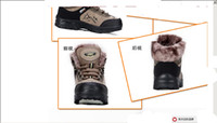 Wholesale New Fashion Lady s Outdoor Athletic Flat Waterproof Gray Sport Shoes Canvas Warm Work Hiking Boot