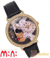 Wholesale MINI Korea Japan Polymer Clay Handmade Miniature Girl Children Fashion D Watch Black
