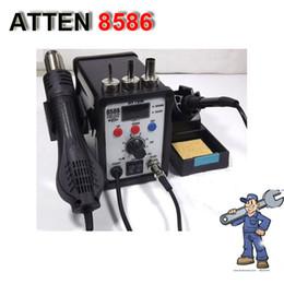Wholesale 220V ATTEN AT8586 in1 Hot Air SMD Rework Soldering Station Desoldering Station