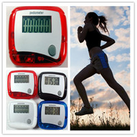 Wholesale Electronic Digital LCD Step Run Pedometer Walking Distance Calorie Counter Assorted colors