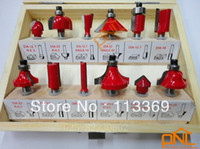 Wholesale 12pc Round Over Router Bit Woodworking Drill Tool Inch mm Router Bits Set
