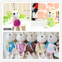 Wholesale 48pcs x cm Rabbit Small Mobile Phone Pendant Plush Toy Rabbit Doll Small Gift