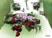 Adult Twill 100% Cotton Personalized Cotton printing oil ink printing Grape Bedspreads Pillowcases 4pcs set queen size